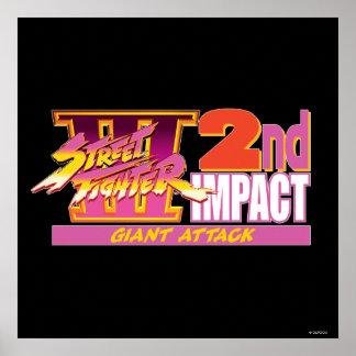 2do logotipo del impacto de Street Fighter III Poster