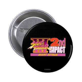 2do logotipo del impacto de Street Fighter III Pin