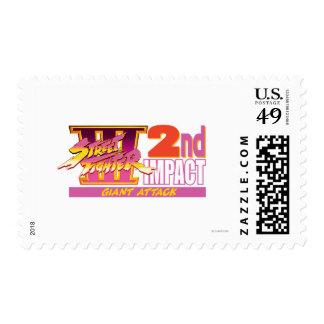 2do logotipo del impacto de Street Fighter III Sello
