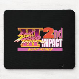 2do logotipo del impacto de Street Fighter III Alfombrilla De Ratones