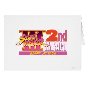2do logotipo del impacto de Street Fighter III Tarjeta