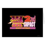 2do logotipo del impacto de Street Fighter III Tarjeta De Felicitación
