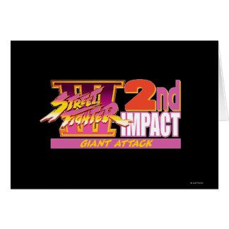 2do logotipo del impacto de Street Fighter III Tarjeton