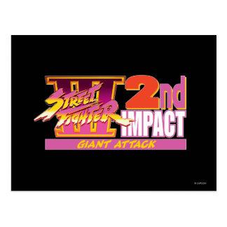 2do logotipo del impacto de Street Fighter III Postales