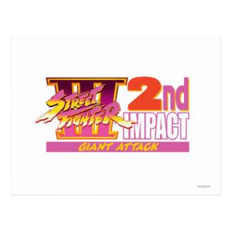 2do logotipo del impacto de Street Fighter III Tarjetas Postales
