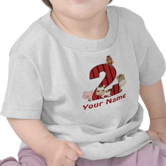 2do Los animales del campo del cumpleaños Camiseta