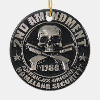 2do Medalla de la enmienda Adorno Navideño Redondo De Cerámica