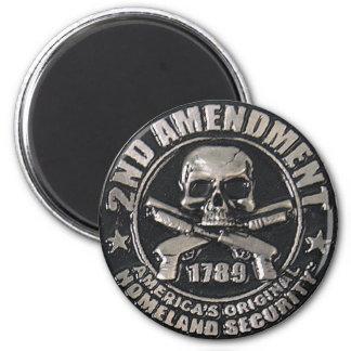 2do Medalla de la enmienda Imán De Nevera