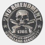 2do Medalla de la enmienda Pegatina Redonda