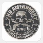 2do Medalla de la enmienda Pegatinas Cuadradases