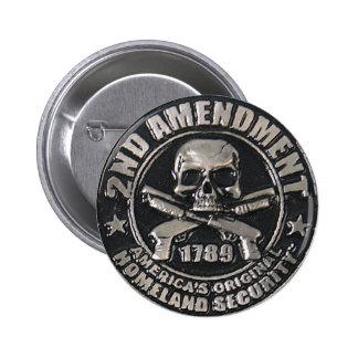 2do Medalla de la enmienda Pin Redondo 5 Cm