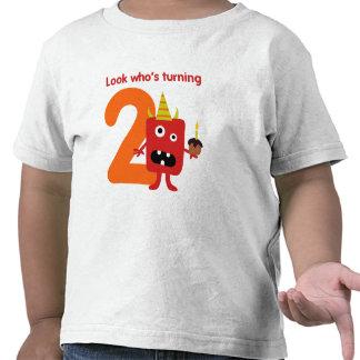 2do Monstruo lindo de la camiseta del cumpleaños