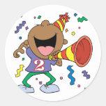 2do Muchacho del cumpleaños Pegatinas Redondas