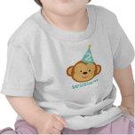 2do Muchacho del mono del cumpleaños con nombre pe Camisetas
