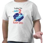 2do Nave del espacio exterior del cumpleaños Camiseta