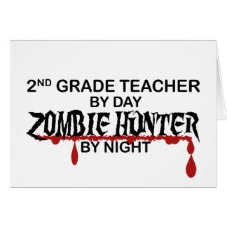 2do Noche del cazador del zombi del grado Tarjeta De Felicitación