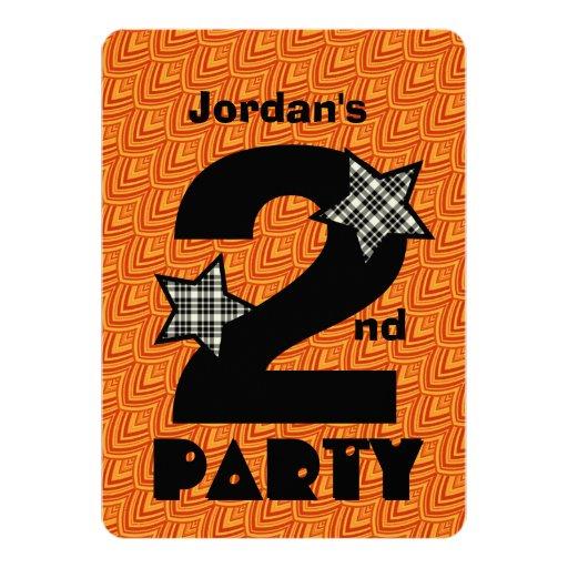 """2do Nombre de encargo del cumpleaños con las Invitación 5"""" X 7"""""""