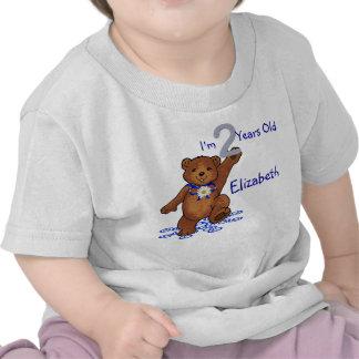 2do Oso de peluche del cumpleaños para el chica Camisetas