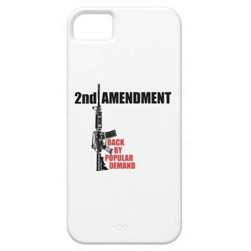 2do Parte posterior de la enmienda por demanda iPhone 5 Funda