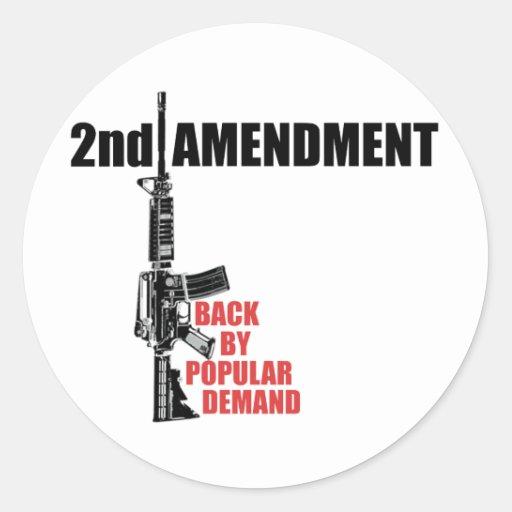 2do Parte posterior de la enmienda por demanda Pegatina Redonda