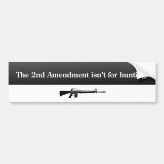 2do Pegatina para el parachoques de la enmienda Pegatina De Parachoque