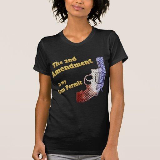 2do permiso del arma de la enmienda camisetas