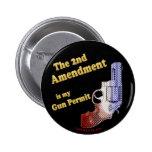 2do permiso del arma de la enmienda pins