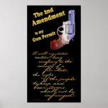 2do permiso del arma de la enmienda poster