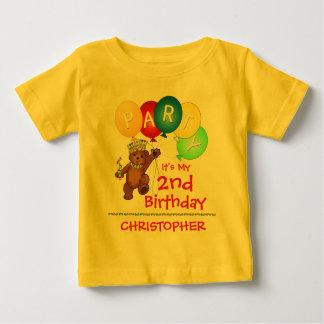 2do personalizado de la fiesta de cumpleaños del playera de bebé