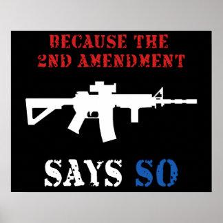 2do Poster de la enmienda Póster