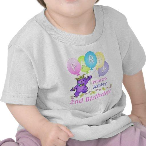 2do Princesa del cumpleaños, nombre de encargo Camiseta
