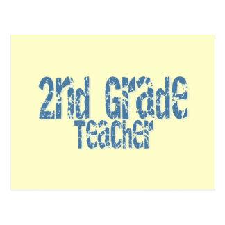 2do profesor apenado azul del grado del texto tarjetas postales
