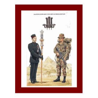 2do Propios rifles del Gurkha de rey Edward VII Postal