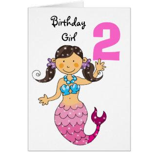 2do regalo de cumpleaños para un chica, sirena tarjeta de felicitación