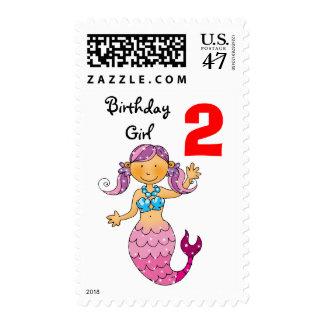 2do regalo de cumpleaños para un chica, sirena timbres postales
