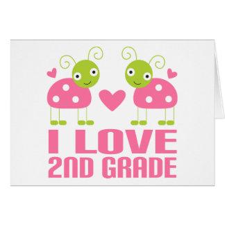 2do regalo del grado del amor rosado lindo de la m tarjeta de felicitación