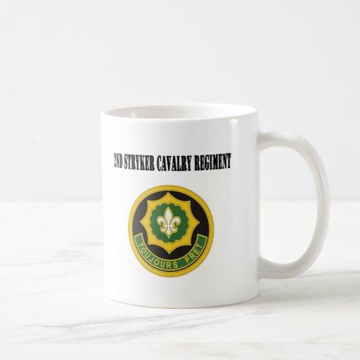 2do Regimiento de caballería de Stryker Taza Básica Blanca