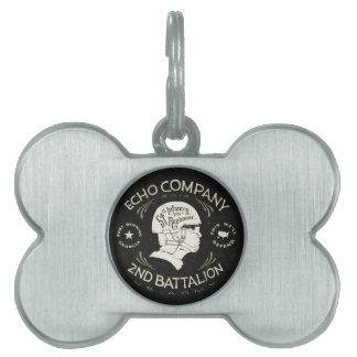 2do regimiento de infantería del batallón 54.o de placa de nombre de mascota