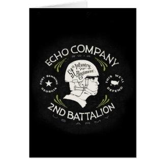 2do regimiento de infantería del batallón 54.o de tarjetas