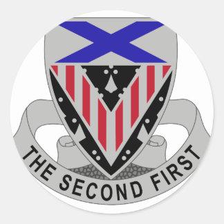 2do Regimiento de la artillería Etiquetas Redondas