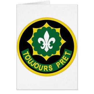 2do Remiendo del color de las insignias del regimi Felicitación
