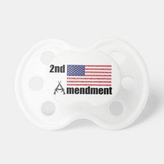2do Rifles A de AR de la enmienda y bandera Chupetes