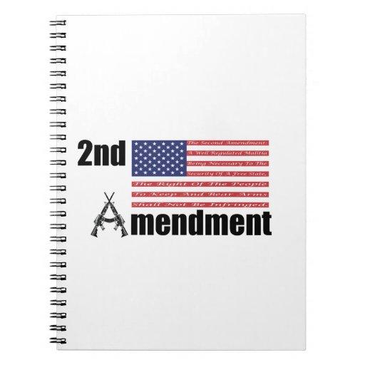 2do Rifles A de AR de la enmienda y bandera Libreta Espiral