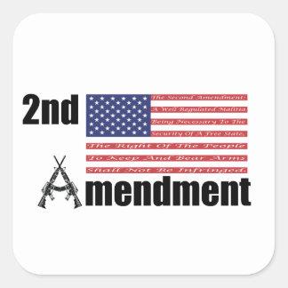 2do Rifles A de AR de la enmienda y bandera Colcomanias Cuadradases