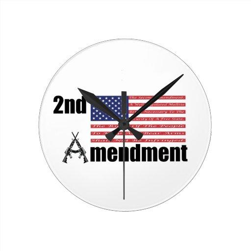 2do Rifles A de AR de la enmienda y bandera Relojes