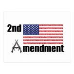 2do Rifles A de AR de la enmienda y bandera Tarjeta Postal