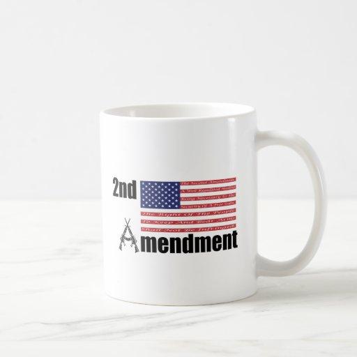 2do Rifles A de AR de la enmienda y bandera Tazas De Café