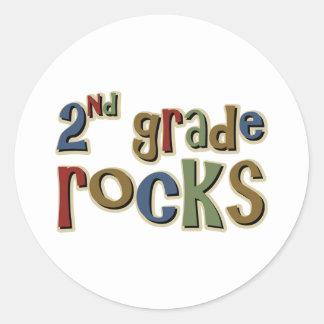 2do Rocas del grado en segundo lugar Pegatinas Redondas