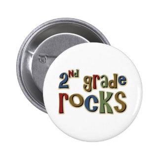 2do Rocas del grado en segundo lugar Pin Redondo De 2 Pulgadas