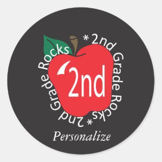 2do Rocas del profesor de escuela primaria Pegatina Redonda